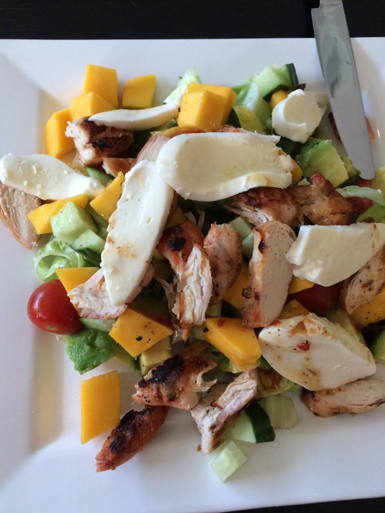 Kylling og mango salat